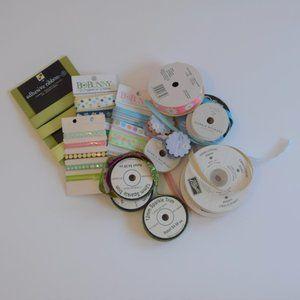 Bundle of Ribbon Scrapbooking Crafting Lot
